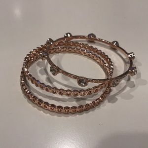 Rose Gold Bangles (Set of 3)